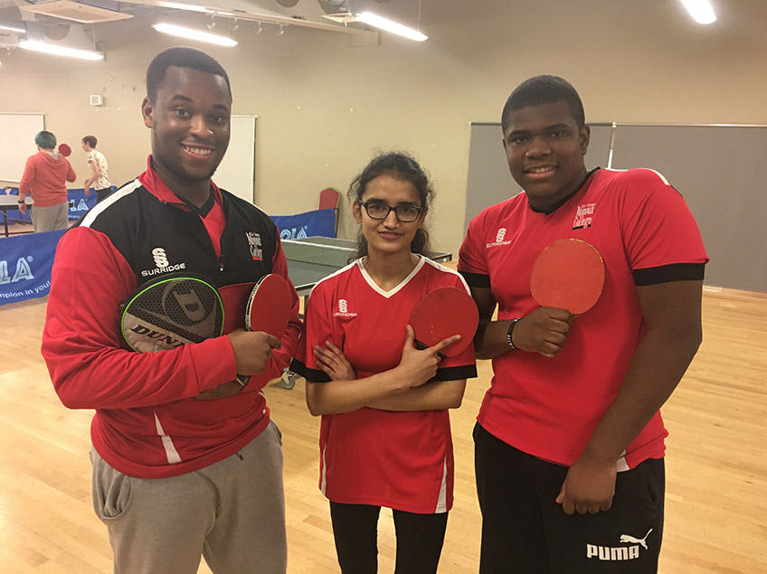 Table Tennis Success At AOC Sport Regional Tournament