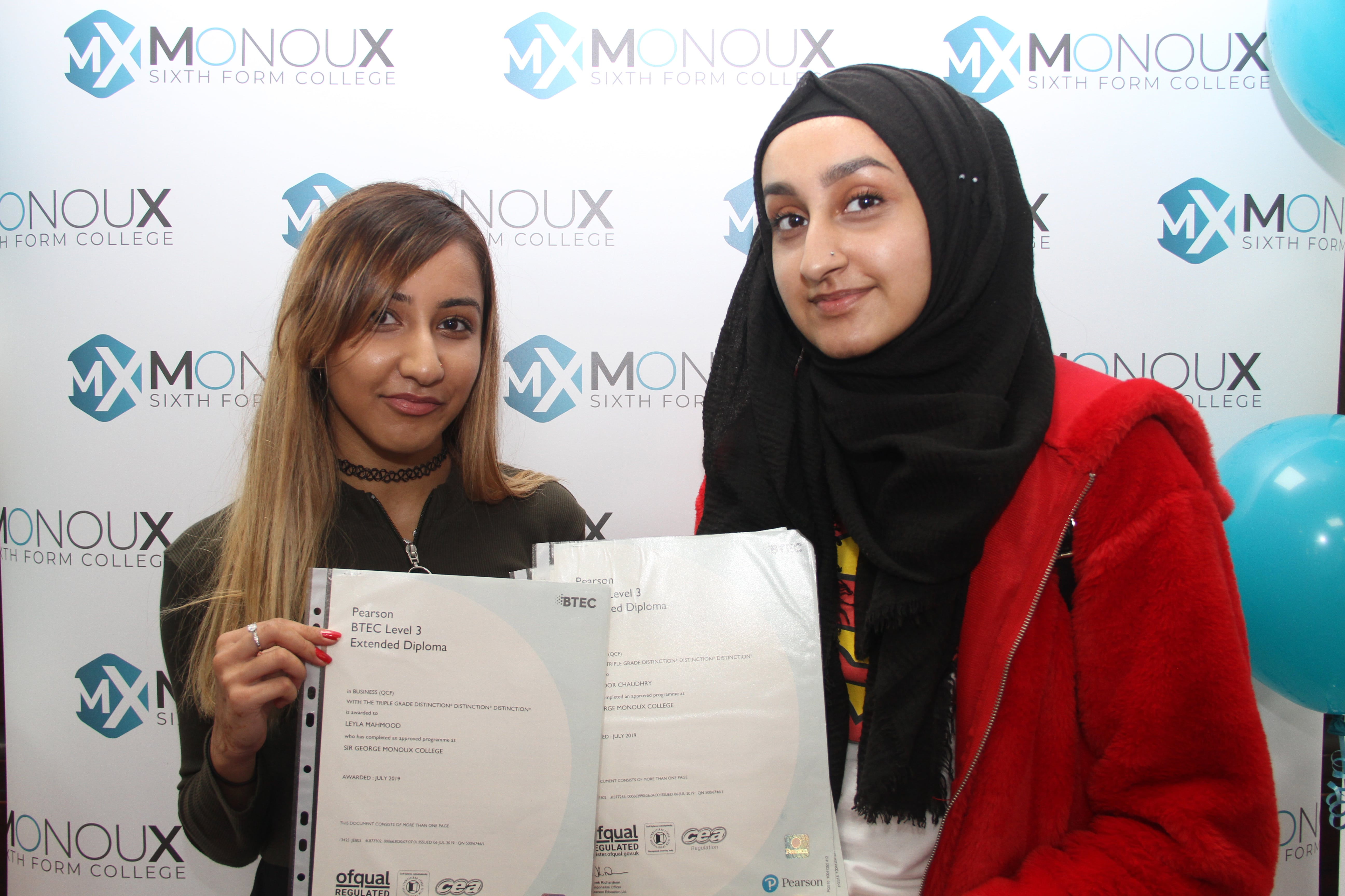 Great results at Monoux – now in top 10% of sixth forms nationally.